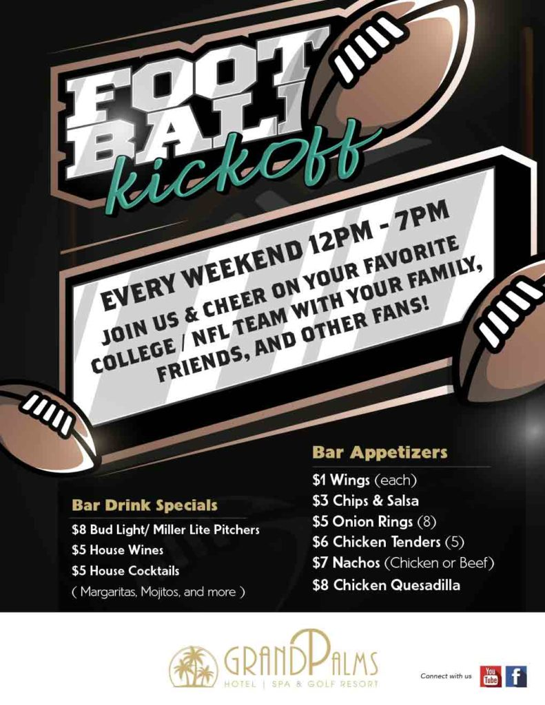 Football Kickoff Weekends! – EVERY WEEKEND 12pm – 7pm