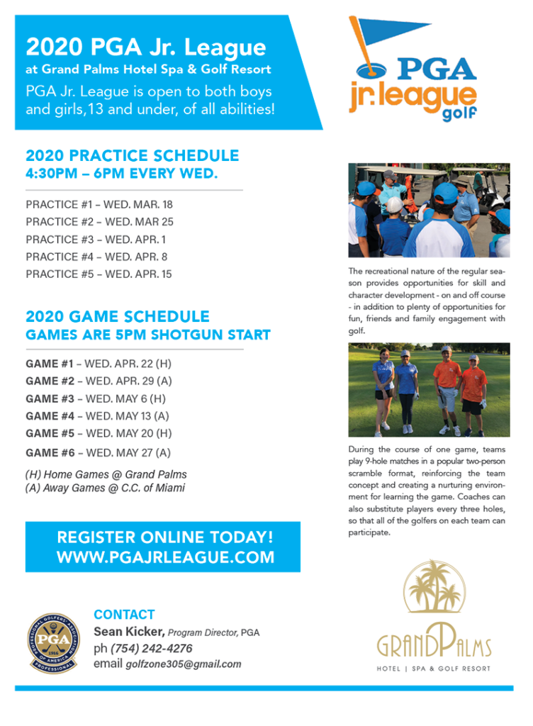 2020 PGA Jr. League at Grand Palms Hotel Spa & Golf Resort