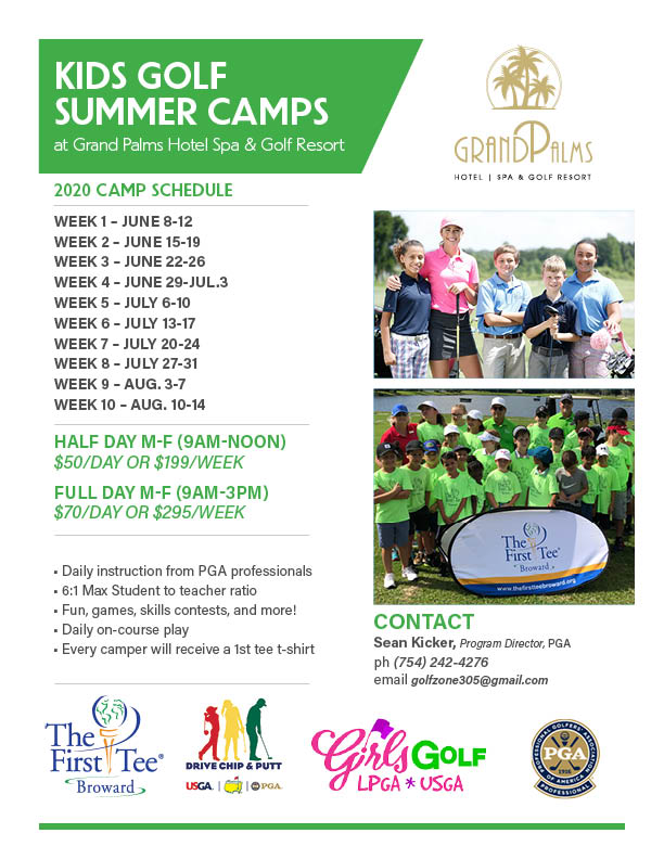KIDS GOLF SUMMER CAMPS