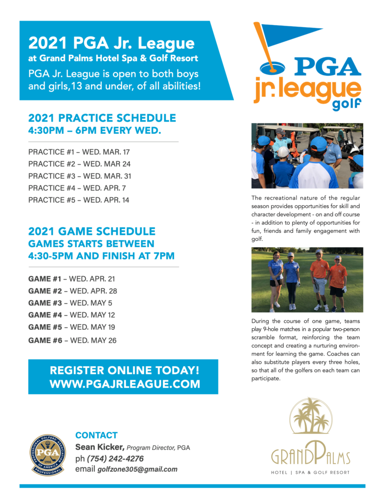 2021 PGA Jr. League at Grand Palms Hotel Spa & Golf Resort