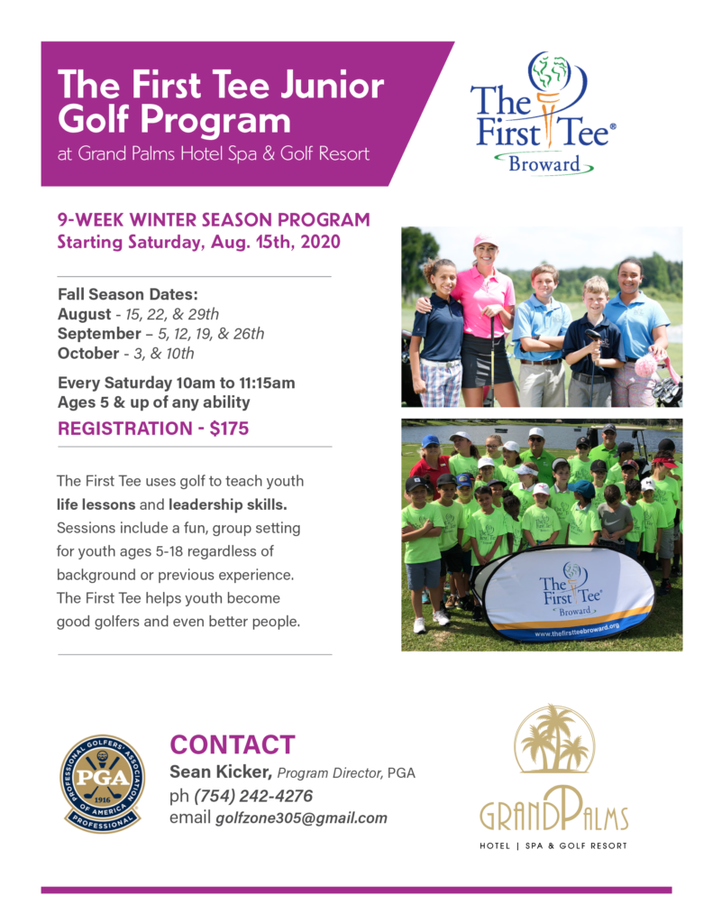 The First Tee Junior  Golf Program – Fall 2020