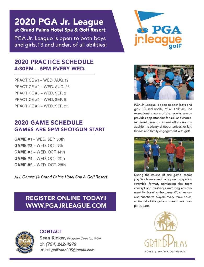 2020 PGA Jr. League – Fall 2020 Season