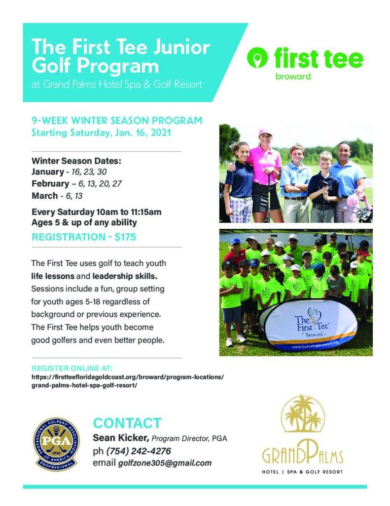 The First Tee Junior  Golf Program – WINTER SEASON STARTS Jan. 16th 2021
